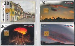 LOT 4 PHONE CARDS SVIZZERA (ES22 - Romania