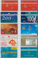 LOT 10 PHONE CARDS BELGIO (ES34 - Belgium