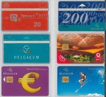 LOT 6 PHONE CARDS BELGIO (ES36 - Belgium