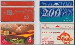LOT 4 PHONE CARDS BELGIO (ES37 - Belgium