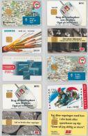 LOT 10 PHONE CARDS DANIMARCA (ES43 - Denmark
