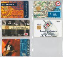 LOT 5 PHONE CARDS DANIMARCA (ES45 - Denmark