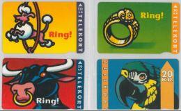 LOT 4 PHONE CARDS DANIMARCA (ES46 - Denmark
