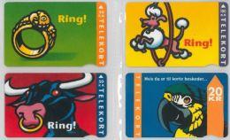 LOT 4 PHONE CARDS DANIMARCA (ES47 - Denmark