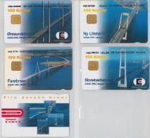 LOT 5 PHONE CARDS DANIMARCA (ES49 - Denmark