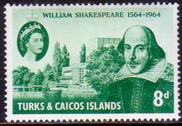 TURKS AND CAICOS ISLANDS 1964 SG #257 8d MNH Shakespeare - Turks And Caicos