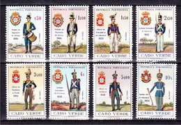 Cape Verde/ Cabo Verde 1965 - Army Uniforms/ Umiformes Do Exército // Complet - MNH - Cape Verde