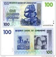 ZIMBABWE 100 Dollars 2007 P 69 UNC - Zimbabwe