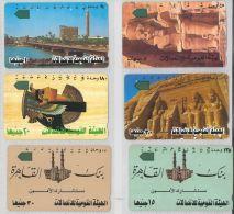 LOT 6 PHONE CARDS EGITTO (ES109 - Egypt