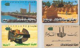 LOT 4 PHONE CARDS EGITTO (ES110 - Egypt