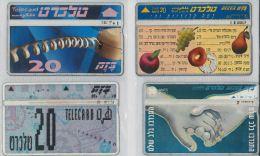 LOT 4 PHONE CARDS ISRAELE (ES112 - Israele