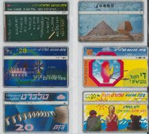 LOT 6 PHONE CARDS ISRAELE (ES113 - Israel