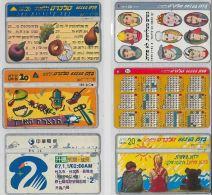 LOT 6 PHONE CARDS ISRAELE (ES115 - Israel