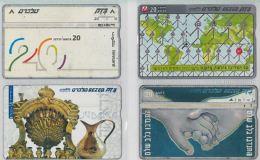 LOT 4 PHONE CARDS ISRAELE (ES116 - Israele