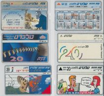 LOT 6 PHONE CARDS ISRAELE (ES117 - Israel