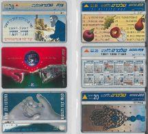 LOT 6 PHONE CARDS ISRAELE (ES119 - Israele