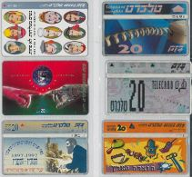 LOT 6 PHONE CARDS ISRAELE (ES121 - Israel
