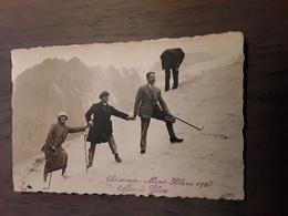 FOTOKAART  CHAMONIX MONT BLANC 1924 - Places