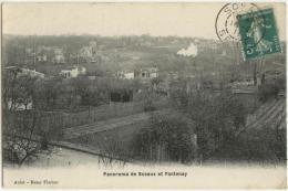 (92) 231, Sceaux, Aulet, Panorama De Sceaux Et Fontenay, Voyagée En 1911, Bon état, Texte Peu Lisible - Sceaux