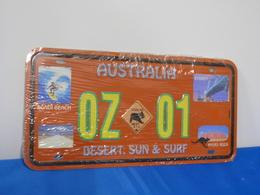 "Plaque D'immatriculation ""AUSTRALIA"" - Advertising (Porcelain) Signs"