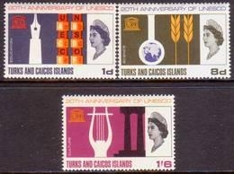 TURKS AND CAICOS ISLANDS 1966 SG #271-73 Compl.set MLH UNESCO - Turks And Caicos