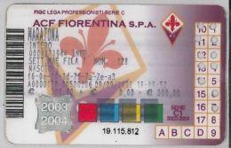 ABBONAMENTO CALCIO FIORENTINA (H.19.8 - Tickets - Vouchers