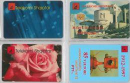 LOT 4 PHONE CARD - ALBANIA (H.24.1 - Albania