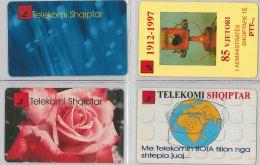 LOT 4 PHONE CARD - ALBANIA (H.25.1 - Albania