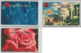 LOT 3 PHONE CARD - ALBANIA (H.25.5 - Albania