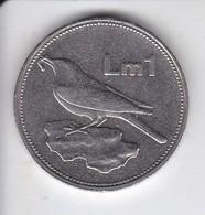 MONEDA DE MALTA DE 1 LIRA MALTESA DEL AÑO 1994 (COIN)  PAJARO-BIRD - Malta