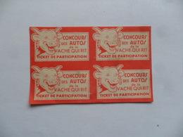 (Image LA VACHE QUI RIT......)  - Grand Concours Des Autos (Ticket De Participation).......voir Scans - Chromos
