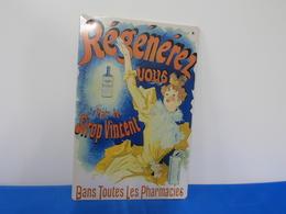"""Plaque Métal """"SIROP VINCENT"""" - Advertising (Porcelain) Signs"""