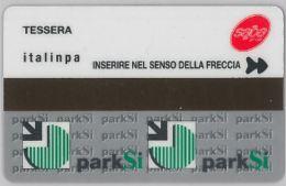 TESSERA PARCHEGGI MAGNETICA ITALINPA PARKSI (J13.5 - Tickets - Vouchers