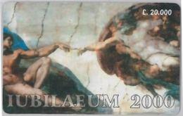SCHEDA PREPAGATA GIUBILEO 2000 - NON EMESSA- L.20000 (J21.3 - Schede GSM, Prepagate & Ricariche