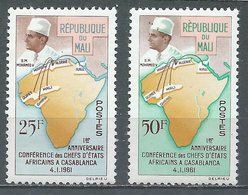 Mali YT N°31/32 Conférence De Casablanca Neuf ** - Mali (1959-...)