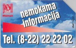 SCHEDA TELEFONICA URMET LITUANIA (J56.4 - Lithuania