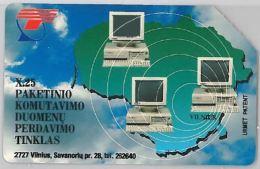 SCHEDA TELEFONICA URMET LITUANIA (J57.2 - Lithuania