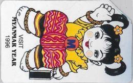 SCHEDA TELEFONICA URMET MYANMAR (J61.7 - Myanmar (Burma)