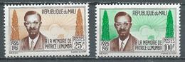 Mali YT N°33/34 Patrice Lumumba Neuf ** - Mali (1959-...)