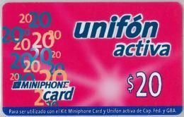 PREPAID PHONE CARD ARGENTINA (U.5.8 - Argentina