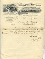 77 CLAYE-SOUILLY - Scierie Mécanique à Vapeur Paul POULET Et Cie, à La Rosée - Facture Illustrée 1912 - Claye Souilly