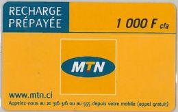 PREPAID PHONE CARD COSTA AVORIO (U.8.1 - Côte D'Ivoire