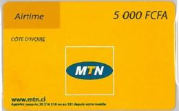 PREPAID PHONE CARD COSTA AVORIO (U.8.3 - Côte D'Ivoire