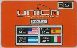 PREPAID PHONE CARD ARGENTINA (U.14.6 - Argentina