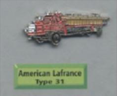 Pin's CAMION POMPIER AMERICAN LAFRANCE TYPE 31  Atlas P39 - Transportation