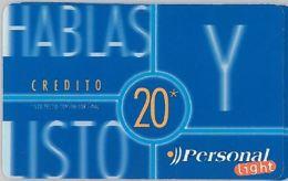 PREPAID PHONE CARD ARGENTINA (U.26.5 - Argentina