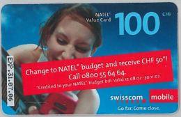 PREPAID PHONE CARD SVIZZERA (U.28.1 - Switzerland