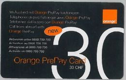 PREPAID PHONE CARD SVIZZERA ORANGE (U.28.2 - Switzerland