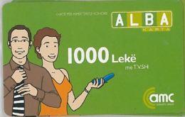 PREPAID PHONE CARD ALBANIA  (U.30.5 - Albania