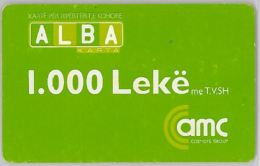 PREPAID PHONE CARD ALBANIA  (U.30.7 - Albania